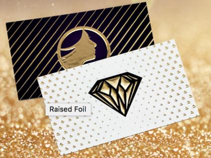 16PT Suede Business Cards w_ Raised Foil