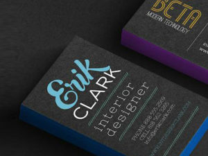 32PT Uncoated Painted EDGE Business Cards